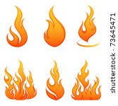 fire flames. collage. | Shutterstock .eps vector #73645471