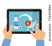 online store of food concept.... | Shutterstock .eps vector #736454866
