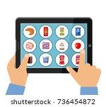 online store of food concept.... | Shutterstock .eps vector #736454872