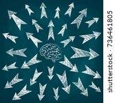 sketch of arrows  different... | Shutterstock .eps vector #736461805
