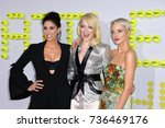 """Small photo of LOS ANGELES, CA - September 16, 2017: Sarah Silverman, Emma Stone, Andrea Riseborough at the premiere for """"Battle of the Sexes"""" at the Regency Village Theatre, Westwood"""
