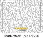hand drawn typography... | Shutterstock .eps vector #736471918