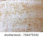 abstract rusty metal plate... | Shutterstock . vector #736475242