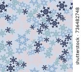 seamless pattern. snowflakes... | Shutterstock .eps vector #736482748