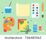 themed kids creativity creation ... | Shutterstock .eps vector #736485562