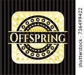 offspring golden emblem | Shutterstock .eps vector #736499422