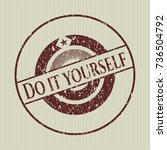 red do it yourself distress...   Shutterstock .eps vector #736504792