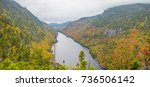 Small photo of Cliff over Lower Ausable Lake in Adirondack Mountains