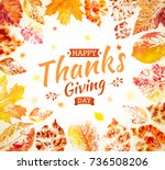thanksgiving day poster design. ... | Shutterstock .eps vector #736508206