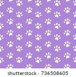 vector animal footprint... | Shutterstock .eps vector #736508605