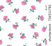 seamless floral pattern with... | Shutterstock .eps vector #736511782