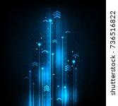 digital speed communication... | Shutterstock .eps vector #736516822
