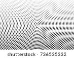 abstract futuristic halftone... | Shutterstock .eps vector #736535332