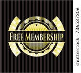 free membership shiny emblem | Shutterstock .eps vector #736537306