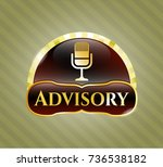 gold emblem or badge with... | Shutterstock .eps vector #736538182