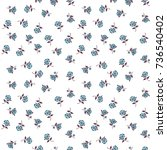 seamless floral pattern with... | Shutterstock .eps vector #736540402