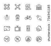 hostel   hotel icon set.... | Shutterstock .eps vector #736541185