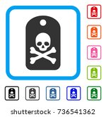 death sticker icon. flat gray... | Shutterstock .eps vector #736541362