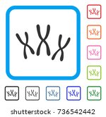 chromosomes icon. flat grey... | Shutterstock .eps vector #736542442