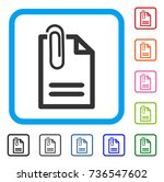 attach document icon. flat gray ... | Shutterstock .eps vector #736547602