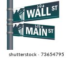 Wall Street Main Street Vector...