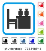 apothecary table icon. flat... | Shutterstock .eps vector #736548946