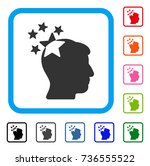 stars hit head icon. flat gray... | Shutterstock .eps vector #736555522
