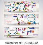 Set Of Abstract Header Banner.