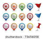 gps icons. | Shutterstock .eps vector #73656058