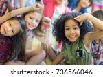 diverse education shoot | Shutterstock . vector #736566046