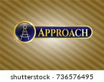 shiny badge with drawing... | Shutterstock .eps vector #736576495