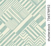 seamless hand drawn stripe... | Shutterstock .eps vector #736578952