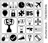 set of 22 business icons ... | Shutterstock .eps vector #736583446