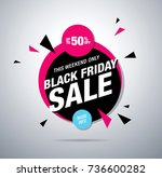 black friday sale banner layout ... | Shutterstock .eps vector #736600282