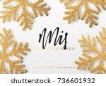 spanish text  mis... | Shutterstock .eps vector #736601932