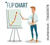 flip chart seminar concept... | Shutterstock .eps vector #736603078