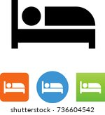 sleeping icon  | Shutterstock .eps vector #736604542