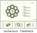 four marketing slide template...