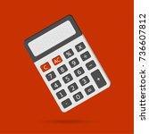 electronic calculator in flat... | Shutterstock .eps vector #736607812