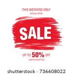sale banner layout design   Shutterstock .eps vector #736608022