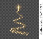 christmas tree stylized on... | Shutterstock .eps vector #736610722