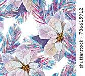 christmas seamless pattern....   Shutterstock . vector #736615912