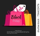 vector style web black friday... | Shutterstock .eps vector #736622476