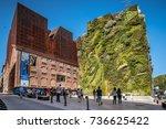 madrid  spain   october 14 ... | Shutterstock . vector #736625422