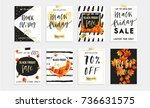 black friday sale poster with... | Shutterstock .eps vector #736631575