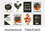 black friday sale poster with... | Shutterstock .eps vector #736631602