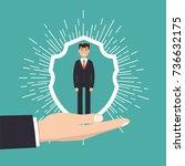 customer care  retention or... | Shutterstock .eps vector #736632175