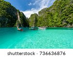 beautiful crystal clear water... | Shutterstock . vector #736636876
