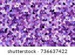 light purple vector red pattern ... | Shutterstock .eps vector #736637422