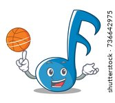 with basketball music note... | Shutterstock .eps vector #736642975